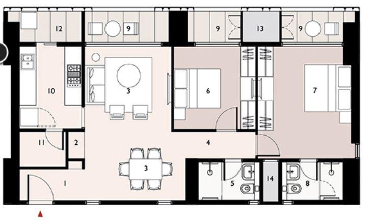 9277 Oth Floor Plan 2  - Lodha Enchante, Wadala