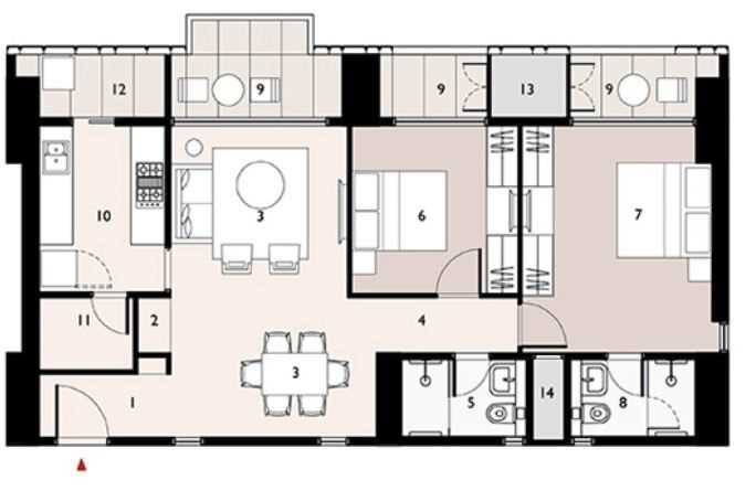 9277 Oth Floor Plan 3  - Lodha Enchante, Wadala