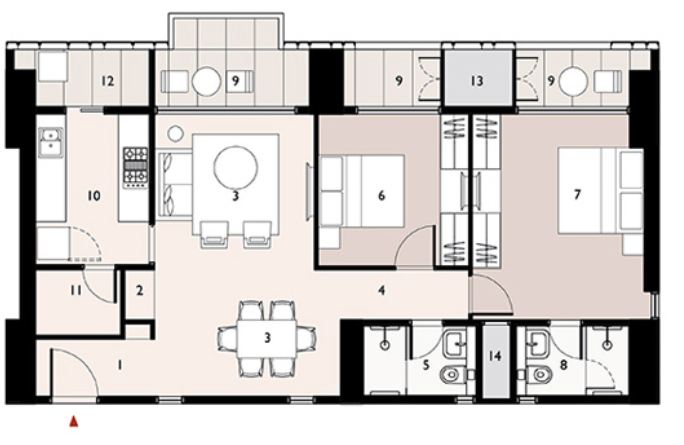 9277 Oth Floor Plan 3  - Lodha Enchante, Wadala