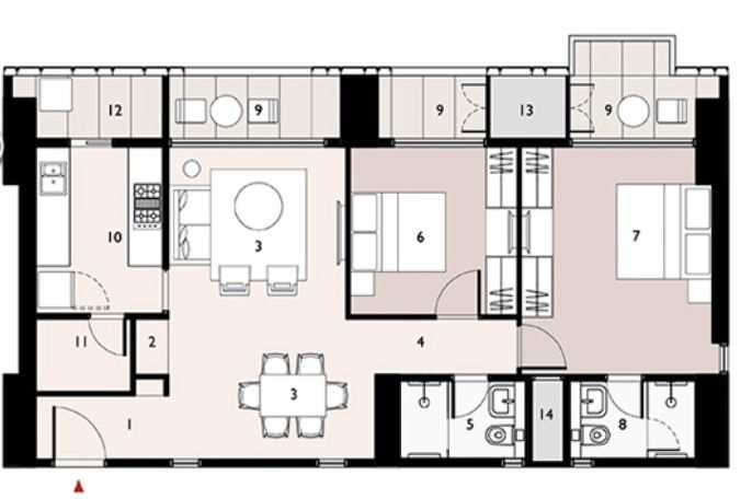 9277 Oth Floor Plan 4  - Lodha Enchante, Wadala
