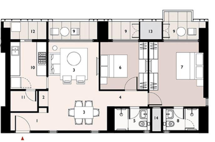 9277 Oth Floor Plan 4  - Lodha Enchante, Wadala