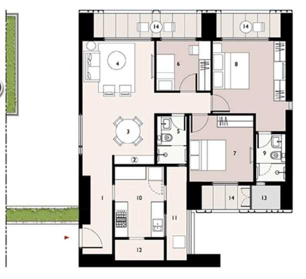 9277 Oth Floor Plan 5  - Lodha Enchante, Wadala