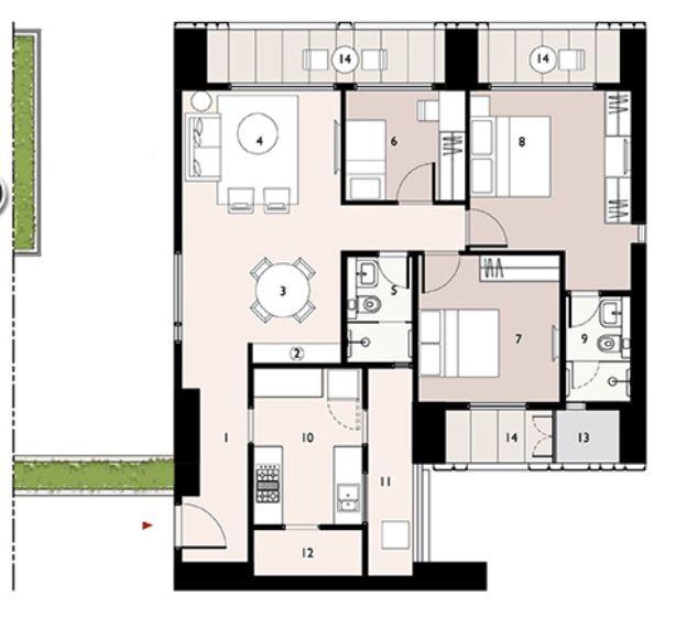 9277 Oth Floor Plan 5  - Lodha Enchante, Wadala