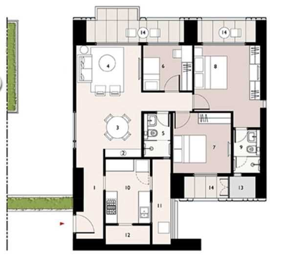 9277 Oth Floor Plan 6  - Lodha Enchante, Wadala