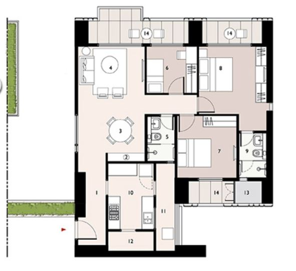 9277 Oth Floor Plan 6  - Lodha Enchante, Wadala
