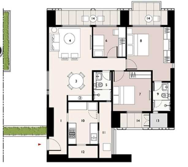 9277 Oth Floor Plan 7  - Lodha Enchante, Wadala