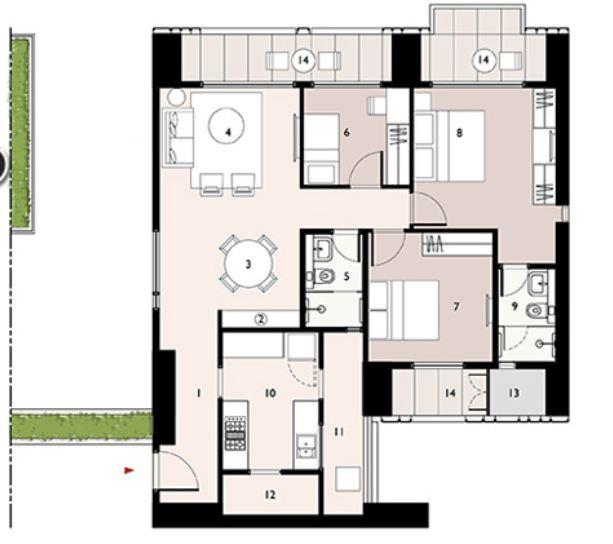 9277 Oth Floor Plan 7  - Lodha Enchante, Wadala