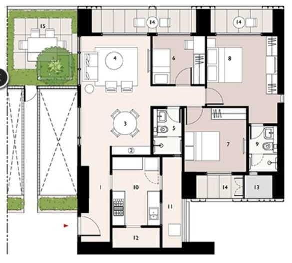 9277 Oth Floor Plan 8  - Lodha Enchante, Wadala