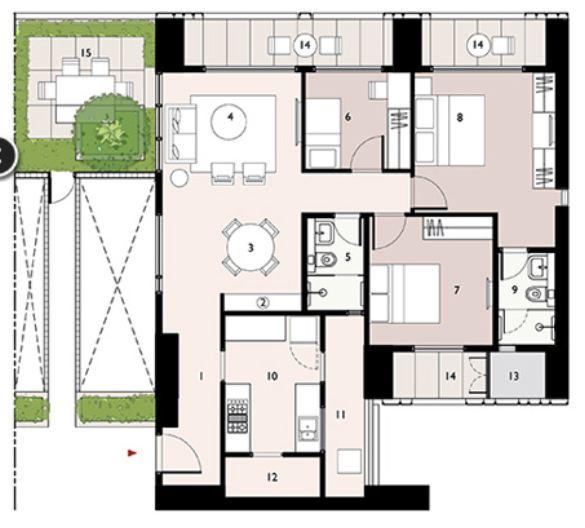 9277 Oth Floor Plan 8  - Lodha Enchante, Wadala