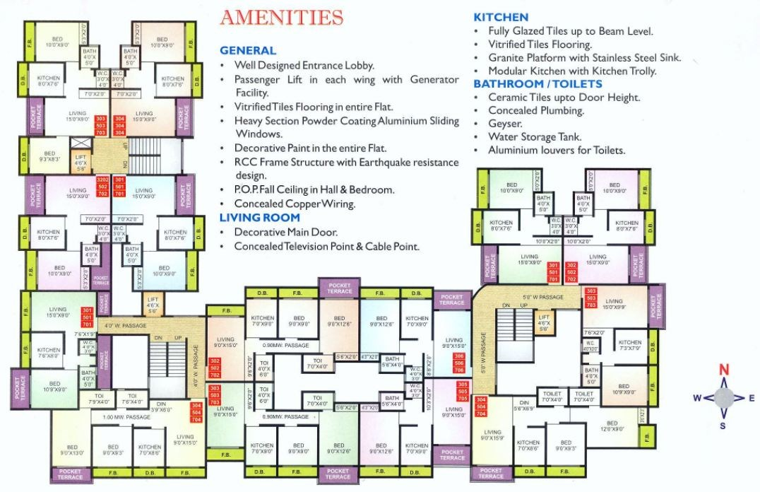 Shubham Heights Floor Plan