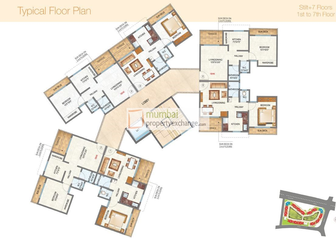 Raunak City 3 Floor Plan