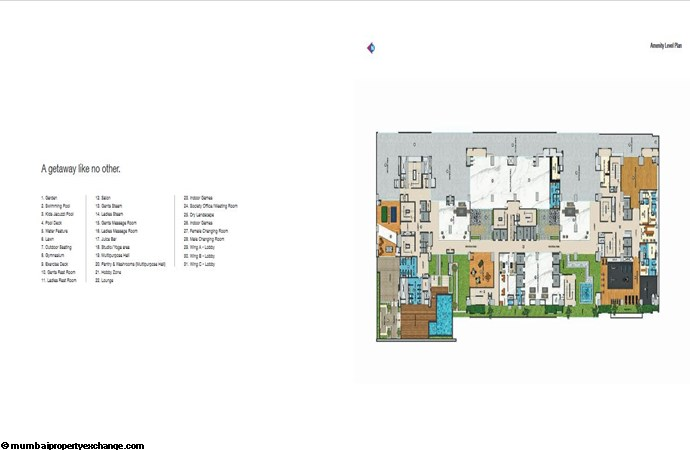 Adani Western Heights Adani Heights Amenities level Plan