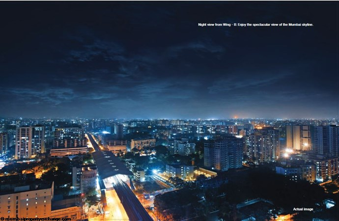 Adani Western Heights Adani Heights Night View from Wing B