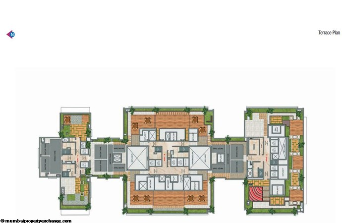 Adani Western Heights Adani Heights Terrace Plan