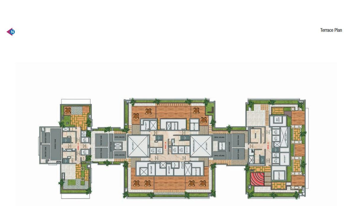 Adani Heights Terrace Plan