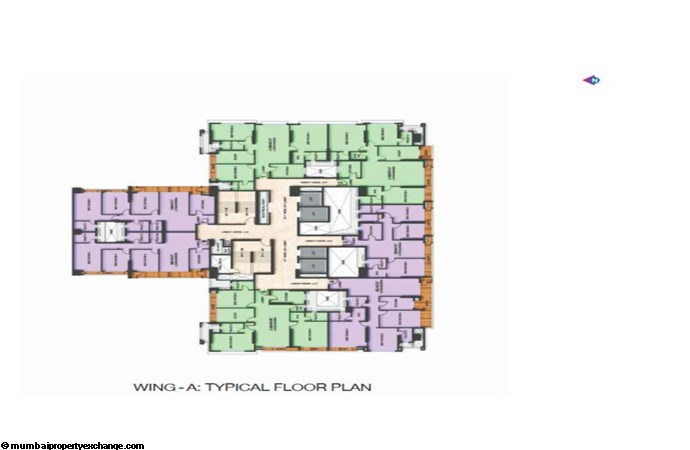 Adani Western Heights Adani Heights Typical Floor Plan of Wing A