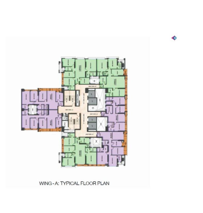Adani Heights Typical Floor Plan of Wing A