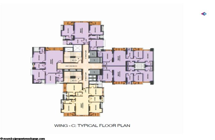 Adani Western Heights Adani Heights Typical Floor Plan of Wing C