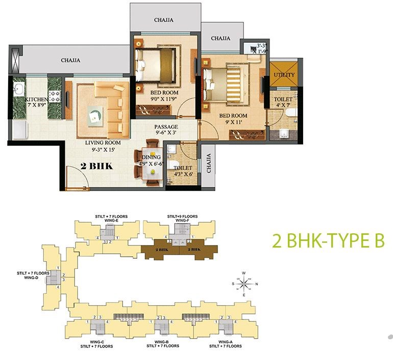 Sethia Green View 2BHK Plan B