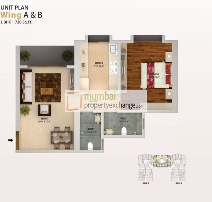 The Era Vuelta 1BHK Plan
