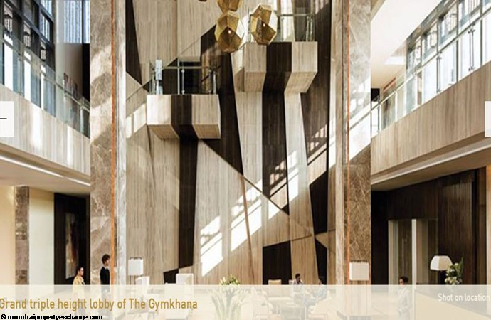 Lodha Estrella  Grand Triple Height Lobby of Gymkhana