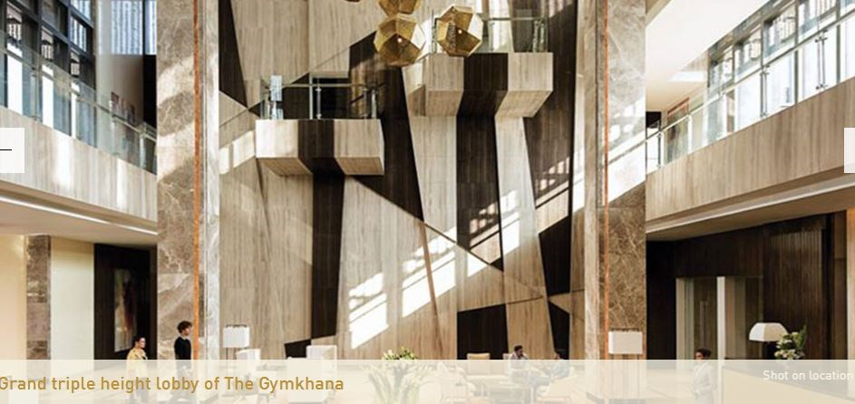 Grand Triple Height Lobby of Gymkhana