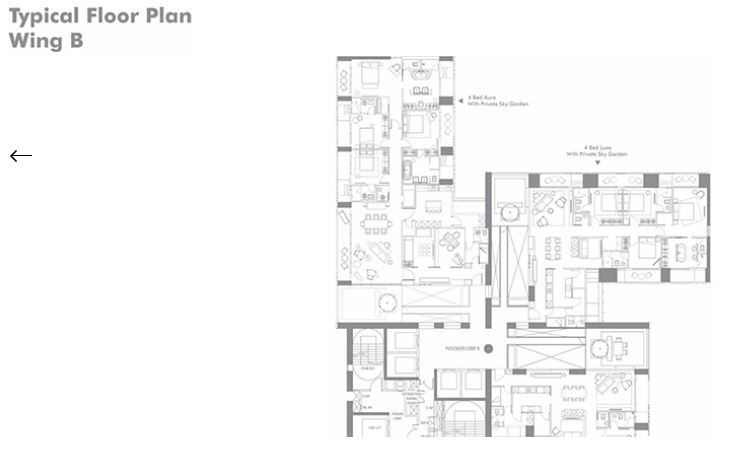 Lodha Estrella Typical Floor Plan Wing B